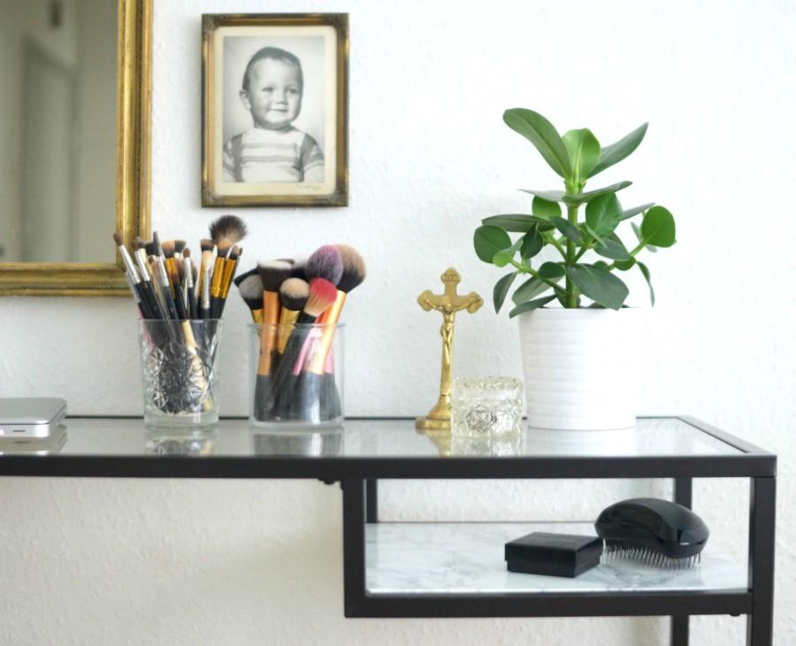Ikea Diy Skrivebord Med Faux Marmorhylde Gownsandroses