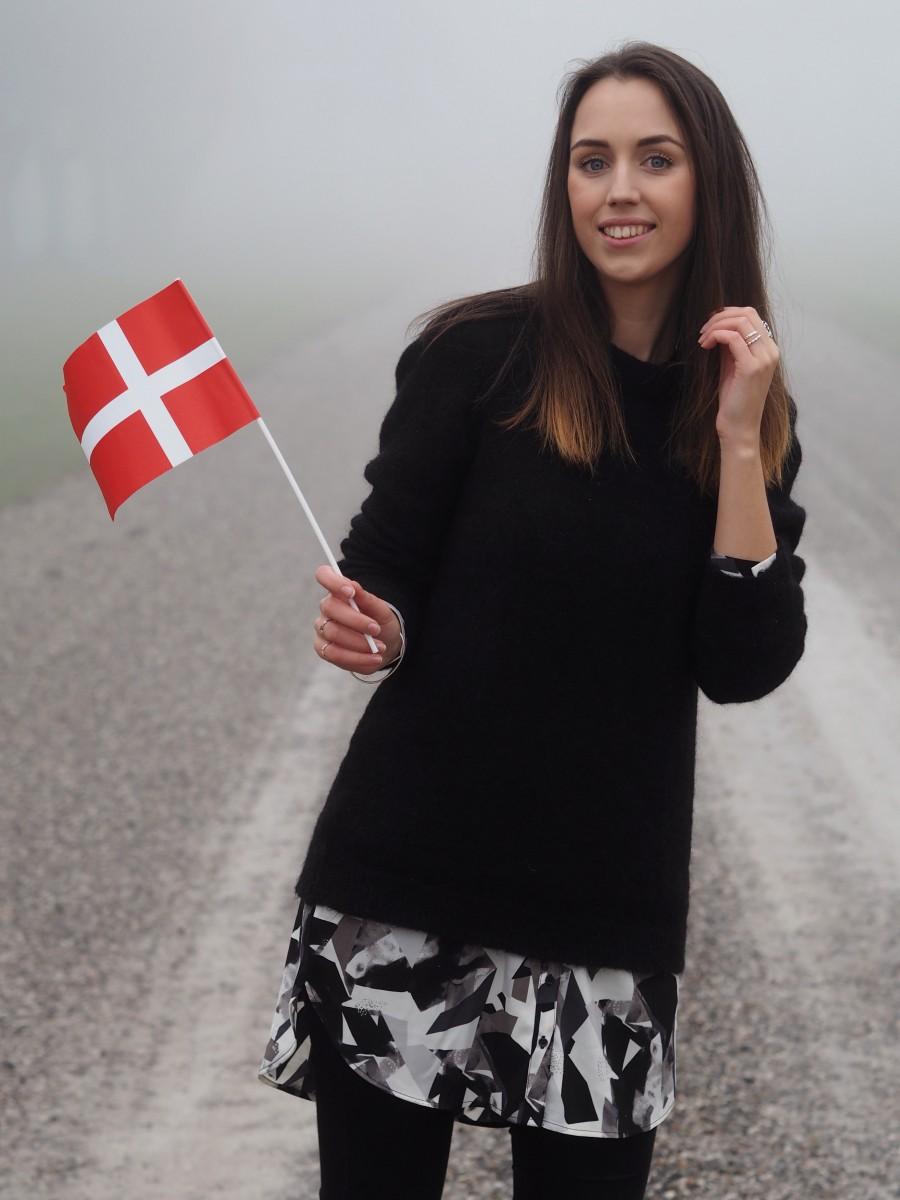 birthday girl with danish flag