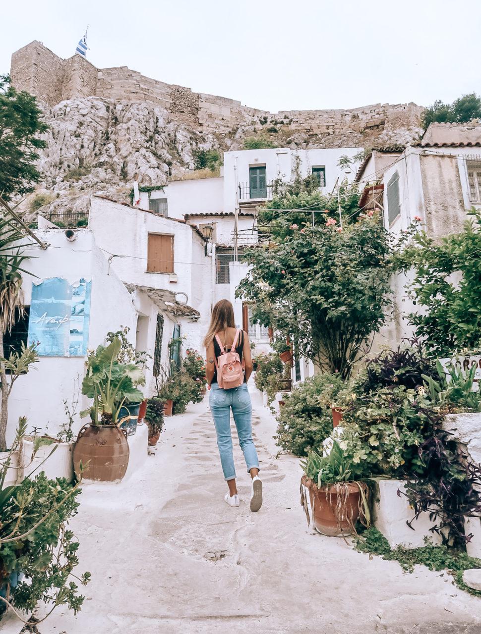 Anafiotika i Athen - en lille bydel under Akropolis. Guide til Athen.
